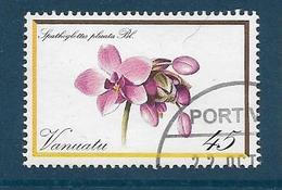 Timbre Oblitéré Vanuatu, N°651 Yt, Orchidée, Fleur, Spathoglottis Plicata, 1982 - Vanuatu (1980-...)