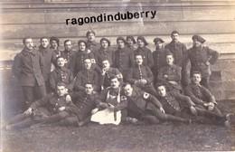 CPA PHOTO - POLOGNE - TESCHEN -CIESZYN - MILITARIA - INFIRMIERS Du 15è BCA Et OFFICIERS POLONAIS Conflit POL TCH 1920 - Pologne