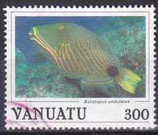 Vanuatu Poisson Balistapus Undulatus N°782 Oblitéré - Vanuatu (1980-...)