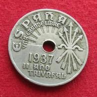 Spain 25 Centimes 1937 Lt 479  Espanha Espana - Autres