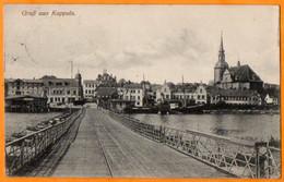 GRUSS AUS KAPPELN  -  PONT DE BATEAUX  -  Février 1916 - Kappeln / Schlei