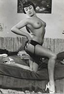 PHOTO ORIGINALE 10CM/15CM DENTELEE : JEUNE FEMME  PIN UP SEXY EROTIC SEINS NUS - Pin-Ups