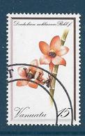 Timbre Oblitéré Vanuatu, N°646 Yt, Orchidée, Fleur, Dendrobium Mohlianum, 1982 - Vanuatu (1980-...)