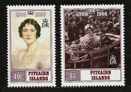 PITCAIRN ISLANDS 1990 - 90th. Birthday Queen ELIZABETH Mother - 2v Mi 360-361 MNH ** Cv€5,00 V811b - Pitcairninsel