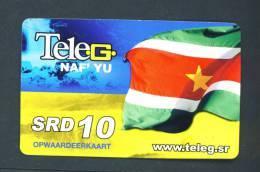 SURINAME  -  Remote Phonecard As Scan (subject To Minor Creasing) - Suriname