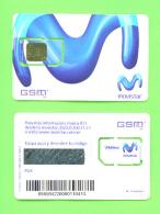 VENEZUELA - Used SIM Phonecard With Taped Chip/Movistar (Chip 4) - Venezuela