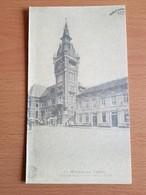 Monceau -sur-sambre Belle Photo19,5cmx11cm Sur Dépliant Carton Hôtel De Ville Construit En 1914-1916 - Charleroi