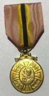 Médaille Décoration Commémorative Du Régne De Leopold II 1865-1909. Ruban Défraichi. - Belgique
