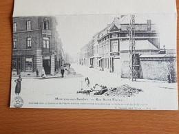 Monceau -sur-sambre  Photo  Sur Dépliant Carton Rue Saint-fiacre.avec à L'intérieur Mots De L'echevin Claude Bael - Charleroi
