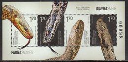 BOSNIA, SERB, 2018,MNH, REPTILES, SNAKES, SHEETLET - Snakes