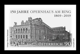 Austria 2019 Mih. 3450 Opera House Vienna State Opera (black Proof) MNH ** - 2011-... Unused Stamps