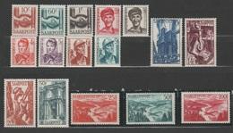 Allemagne - SAARLAND - 1948 - ** - Michel 239 à 254 - 2 Séries -  Valeur €99 - Französische Zone