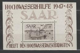 Allemagne - 1948 - SAARLAND - ** - Michel Block 2 - Flugpost - Blockausgabe - Valeur 600€ - Hojas Y Bloques