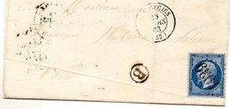Nord - LSC Affr N° 22 Obl GC 1939 - C 15 Landrecies + Boite Rurale B (non Localisée) - 1849-1876: Période Classique