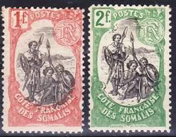 2019-0072 Côte Francaise Des Somalis 1903 Yv 64-65 Neufs Avec Ch. MH * - Französich-Somaliküste (1894-1967)