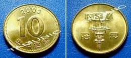 KOREA SOUTH 10 Won 2003 - PAGODA AT PUL GUK TEMPLE - Korea, South