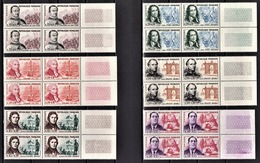 FRANCE 1961 - SERIE 6 BLOCS DE 4 TP / Y.T. N° 1295 A 1300 - NEUFS** - France
