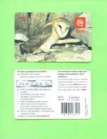 SLOVENIA - Mobitel Bird Phonecard/Barn Owl - Slovenia