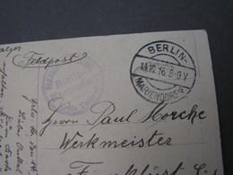 Berlin Mariendorf ,  Nach Ffm .. 1917 , Karte Elsässerin - Storia Postale