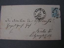 Warschava Polen , Schöner Brief Auf Russ. Ganzsache 1885 - Briefe U. Dokumente