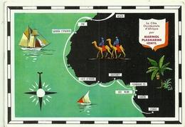 La Côte Occidentale D' Afrique, Carte Géographique Alger, Ifni, Sahara Espagnol, Cotr D' Ivoire, Dahomey, Gabon, Congo - Postcards
