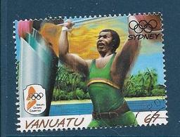 Timbre Oblitéré Vanuatu, N°1094 Yt, Jeux Olympiques De Sydney, Haltérophilie, 2000 - Vanuatu (1980-...)