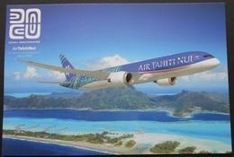 POLYNESIE-FRANCAISE Carte Postale 20ème Anniversaire D'Air Tahiti Nui Année 2018. Tirage : 500 Ex. Prix : 3,25 € - Interi Postali