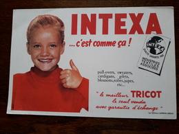 L18/24 Buvard. Intexa . Tricot - Textile & Clothing