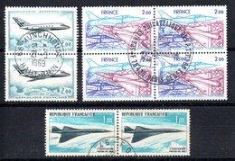 France Frankreich Luftpost Y&T PA 42° (2x), PA 43° (2x), PA 54° (4x) - 1960-.... Used