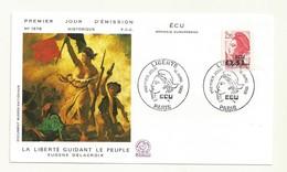 PREMIER JOUR  TIMBRE SURCHARGE  0.31 ECU  16/04/1988  COTE 6 EUROS - 1982-90 Liberté De Gandon