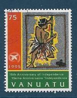 Timbre Oblitéré Vanuatu, N°992 Yt, 15 Ans De L'indépendance, Personnage En Pagne, 1995 - Vanuatu (1980-...)