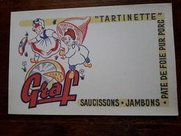 L18/27 Buvard. Graf. Tartinette , Saucissons , Jambons , Paté De Foie - Food