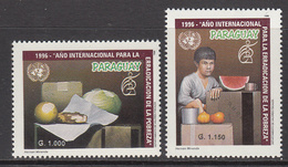 1996 Paraguay UN Eradication Of Poverty Complete Set Of 2 MNH - Paraguay
