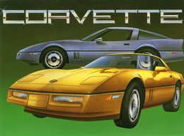 Chevrolet Corvette     -  Carte Postale - Turismo