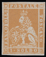Toscana - Marzocco (Leone Mediceo) Con Corona Sulla Testa - 1 Soldo Ocra - 1857 - Toscane