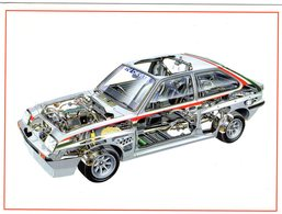 Opel/Vauxhall Chevette HS2300     -  Carte Postale - Turismo