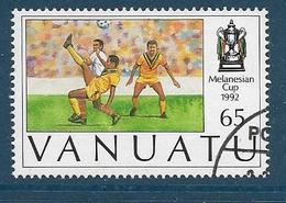 Timbre Oblitéré Vanuatu, N°892 Yt,coupe De Mélanésie De Football 1992, Action De Jeu - Vanuatu (1980-...)