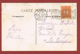 Exposition Internationale Gand 1913 Flamme Du Bureau Temporaire  2 Scan - Universal Expositions