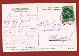 Exposition Internationale Anvers 1930 Obitération  Du Bureau Temporaire  2 Scan - Universal Expositions