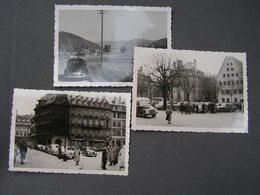 3 Allte Foto , VW Käfer Und Straßburg 1955 - Automobile