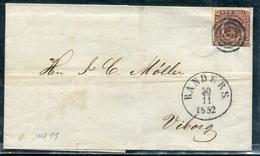 DANEMARK - N° 2 / LSC DE RANDERS LE 20/11/1852 - TB - 1851-63 (Frederik VII)