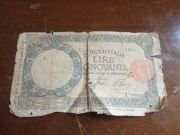 BANCONOTA 50 LIRE DECRETO MINISTERIALE 23 AGOSTO 1943 E 9 AGOSTO 1943 - [ 1] …-1946 : Reino