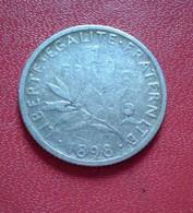 FRANCE 1 FRANC SEMEUSE 1898 ARGENT     (B1011) - H. 1 Franc