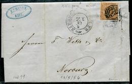 DANEMARK - N° 2 / LETTRE DE KIEL LE 19/4/1854 - B - 1851-63 (Frederik VII)
