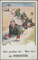 Goot Gracious Me! Here Kom Der Worcesters, C.1915 - Mack Postcard - Humour