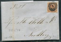 DANEMARK - N° 2 / LETTRE DE COPENHAGUE LE 23/6/1854 - TB - 1851-63 (Frederik VII)