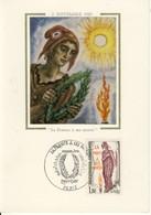 Carte Philatélique Premier Jour 2 Novembre 1985 Paris   La France à Ses Morts  Cpsm Format 10-15 - Evénements
