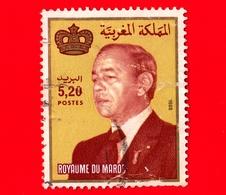 MAROCCO - Usato - 1988 - Re Hassan II (1981-1999) - 5.20 Vedi ... Piccola Piega - Marocco (1956-...)