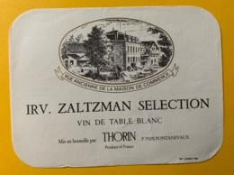 10056 - IRV, ZALTZMAN SELECTION - Blancs