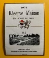 10057 - Réserve Maison 1971 Demur-Chène St. Christophe Des Bardes Gironde - Rouges